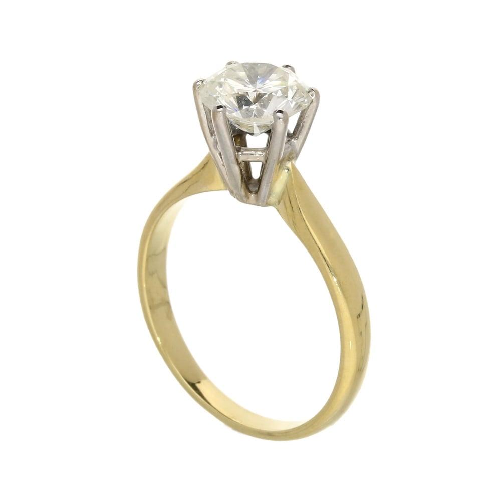 18ct Yellow Gold Diamond Engagement Ring 177ct