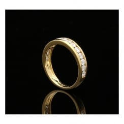 18ct Yellow Gold Diamond Half Eternity Ring - 1.00ct