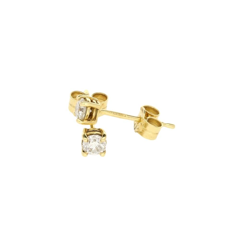 a3c4103a854ac Miltons Diamonds 18ct Yellow Gold Diamond Stud Earrings 0.35ct