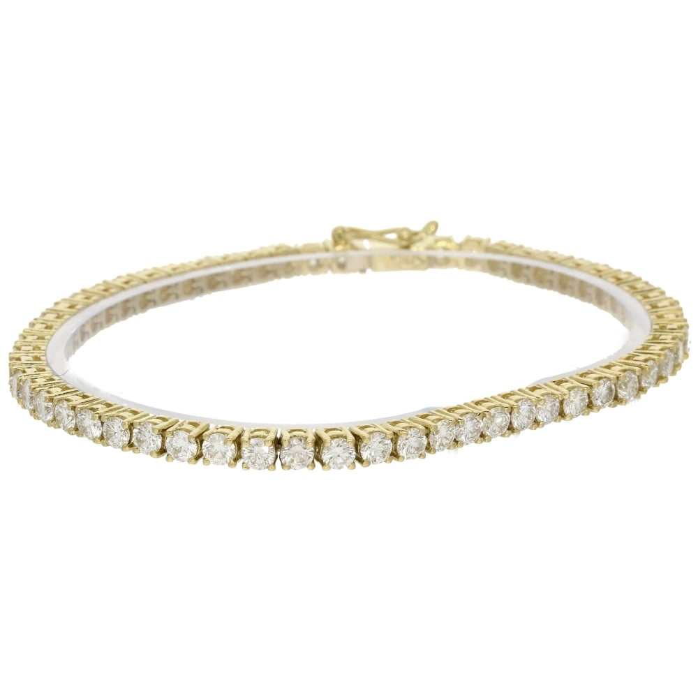 18ct Yellow Gold Diamond Tennis Bracelet 627ct | Miltons ...