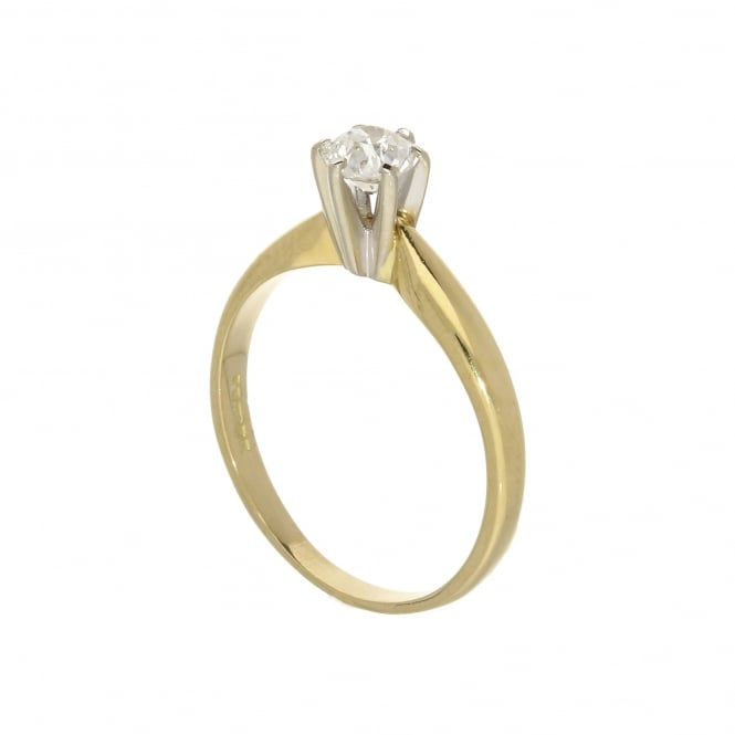 Miltons Diamonds 18ct Yellow Gold Old Brilliant Cut Engagement Ring - 0.40ct