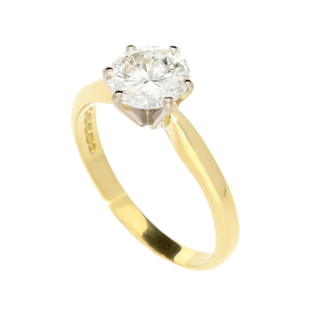 135ct Round Brilliant Cut Diamond Ring Second Hand