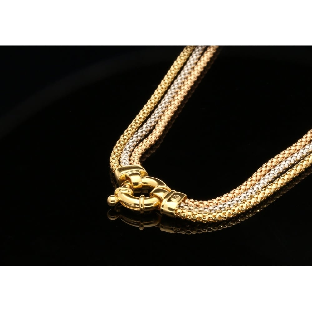 carat product anklet rope with mesh bracelet gold and necklet by design matching