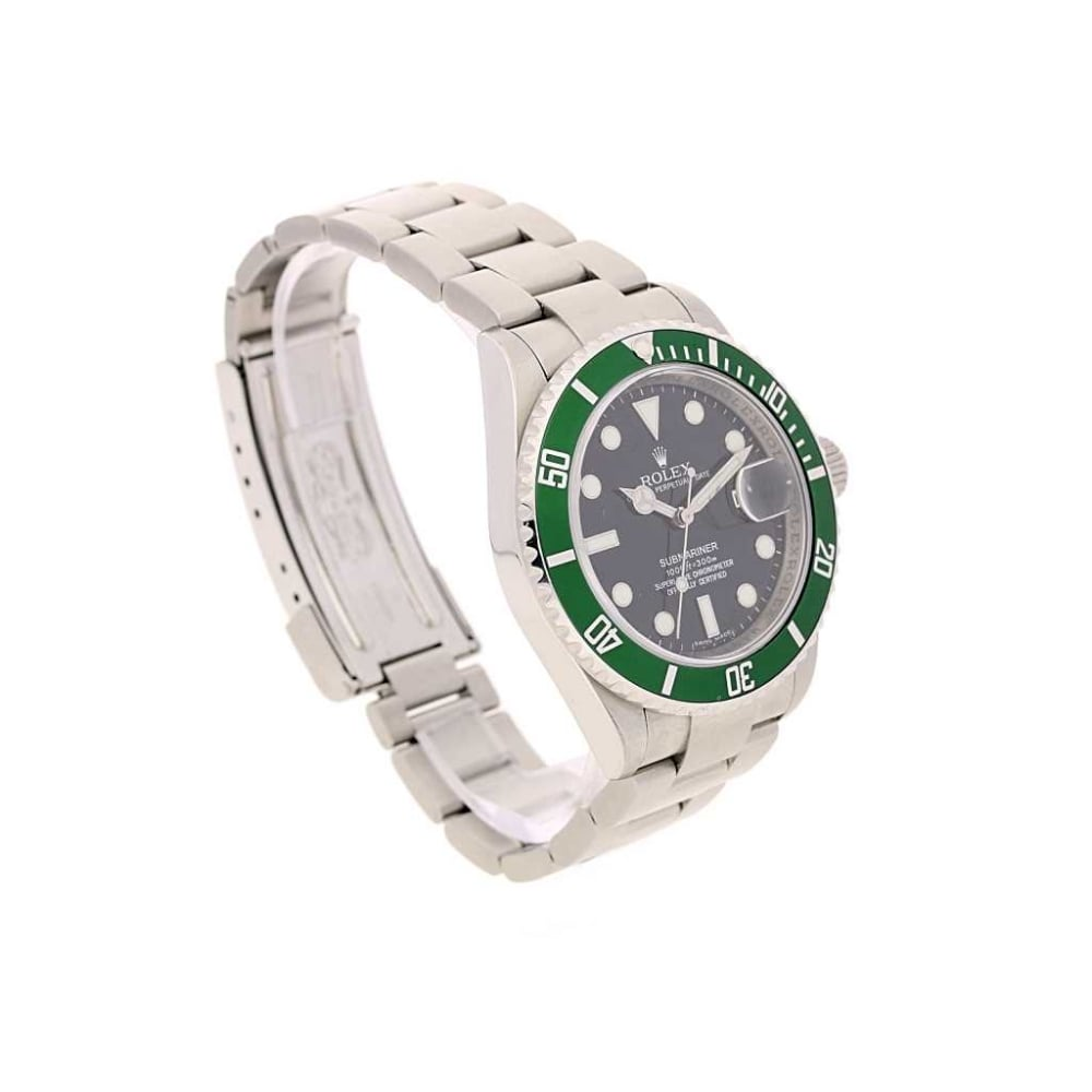 2009 rolex submariner 50th anniversary116610lv green bezel. Black Bedroom Furniture Sets. Home Design Ideas