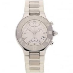 21 Chronoscaph Chronograph - White - Pre Owned