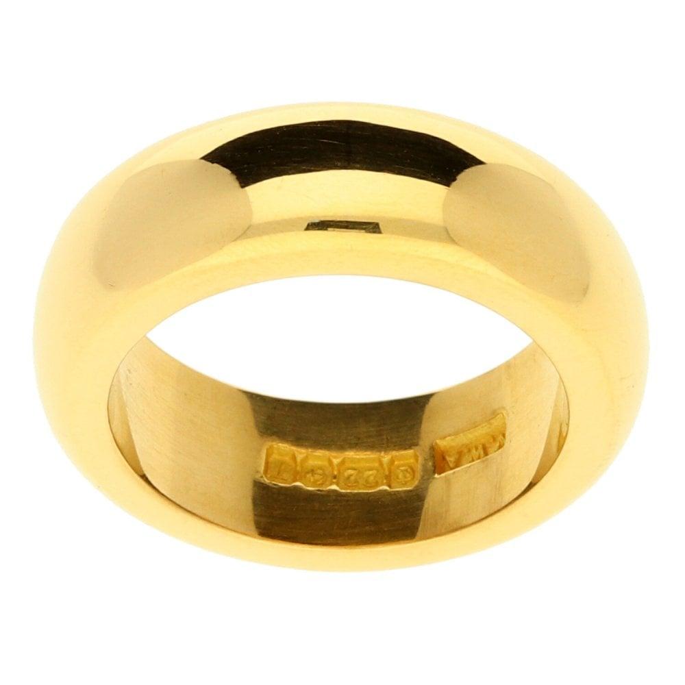 22ct D Shape Heavy Yellow Gold Wedding Ring 17 4g Size K Miltons Diamonds