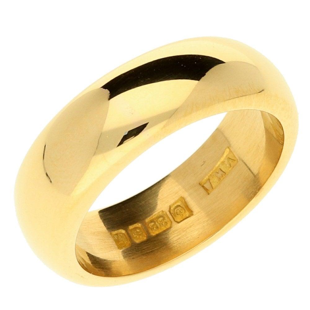 22ct Heavy Yellow Gold Wedding Ring 14g Size N Miltons Diamonds