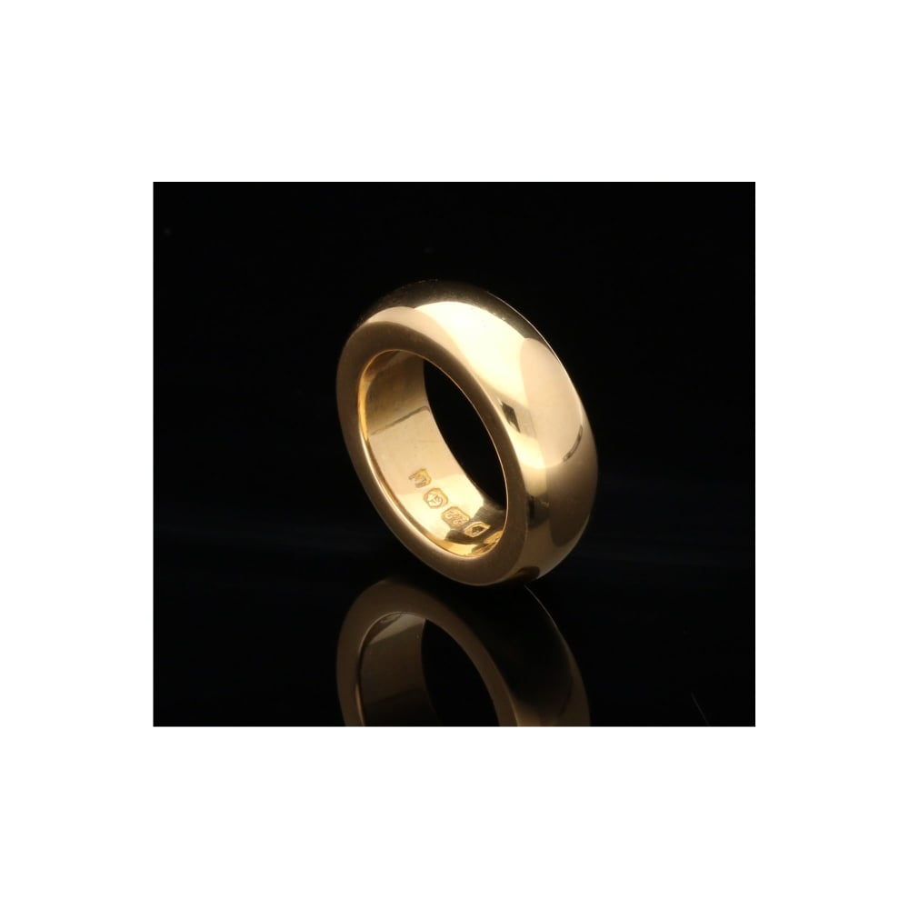 Secondhand 22ct Yellow Gold D Shape 6mm Wedding Ring 2280g Miltons