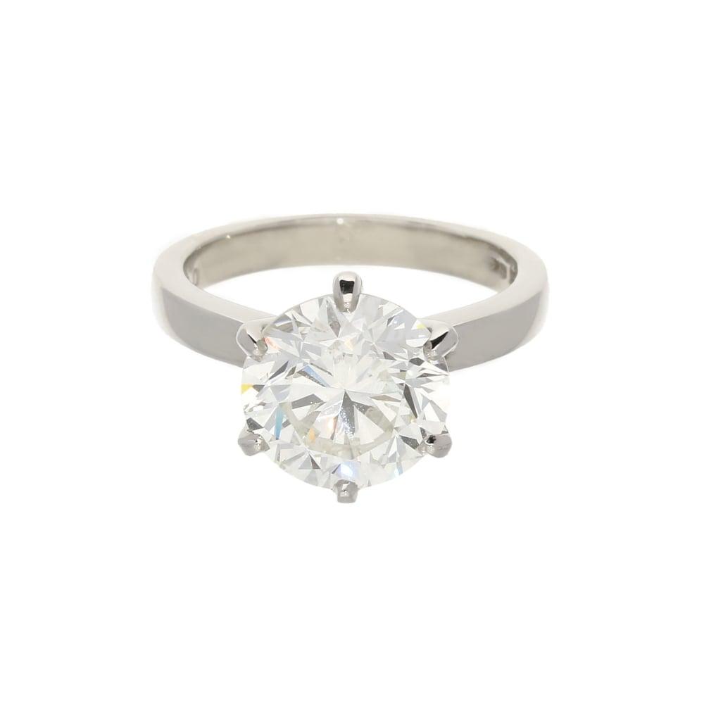 Platinum 401ct Round Brilliant Cut Diamond Ring