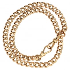 9ct Rose Gold Double Curb Bracelet - 44.50g