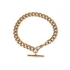 9ct Rose Gold Gents Albert Bracelet - 46.60g