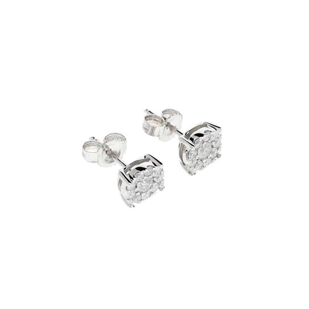 12e43cc1b46f7 Miltons Diamonds 9ct White Gold 0.35ct Diamond Stud Earrings
