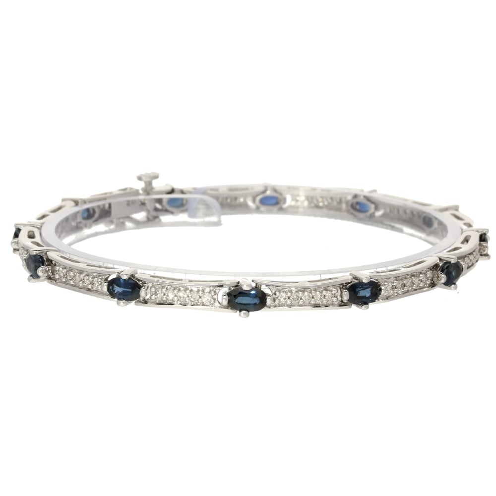 elias products halo jewelry bracelet sapphire and oval allan diamond