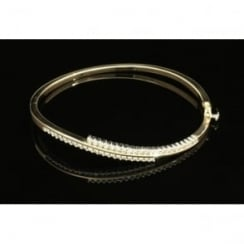 9ct yellow Gold 0.85ct Diamond Bangle