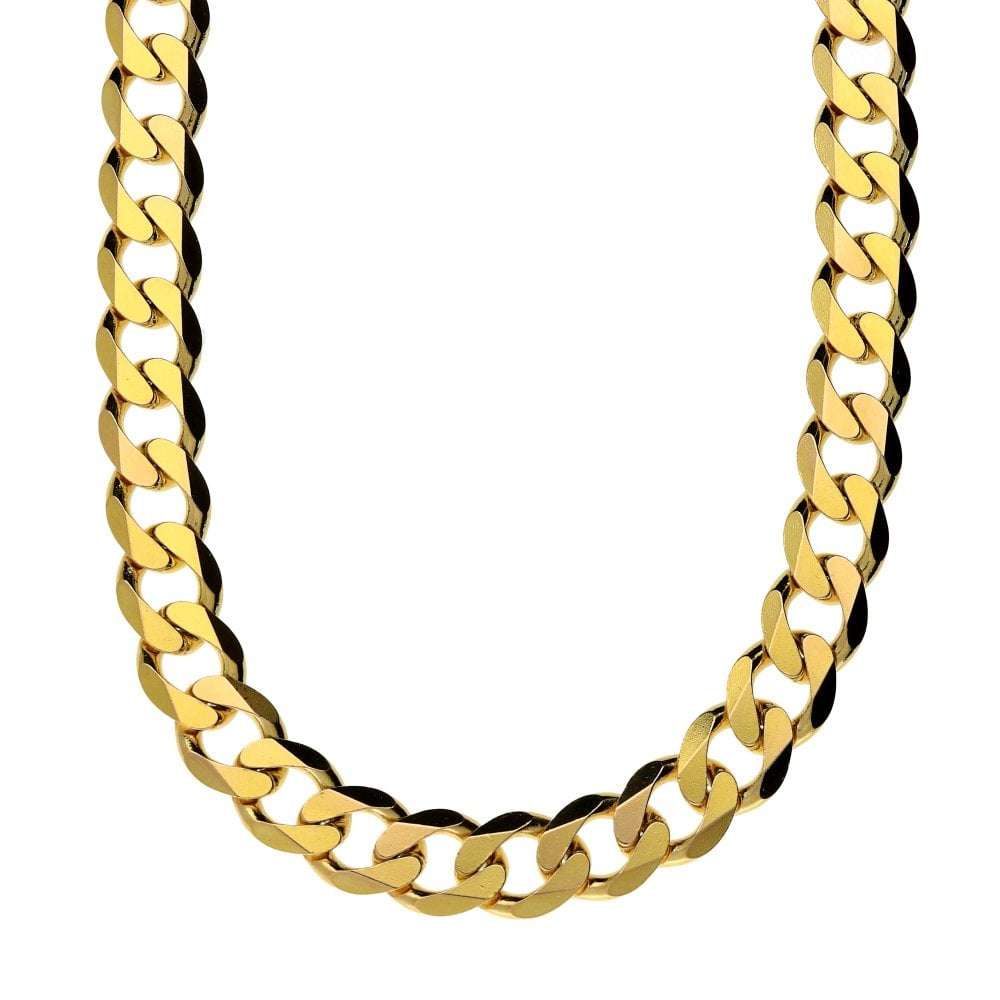 20b60d545b499 9ct Yellow Gold 22-Inch Heavy-Curb Chain - 52.4g