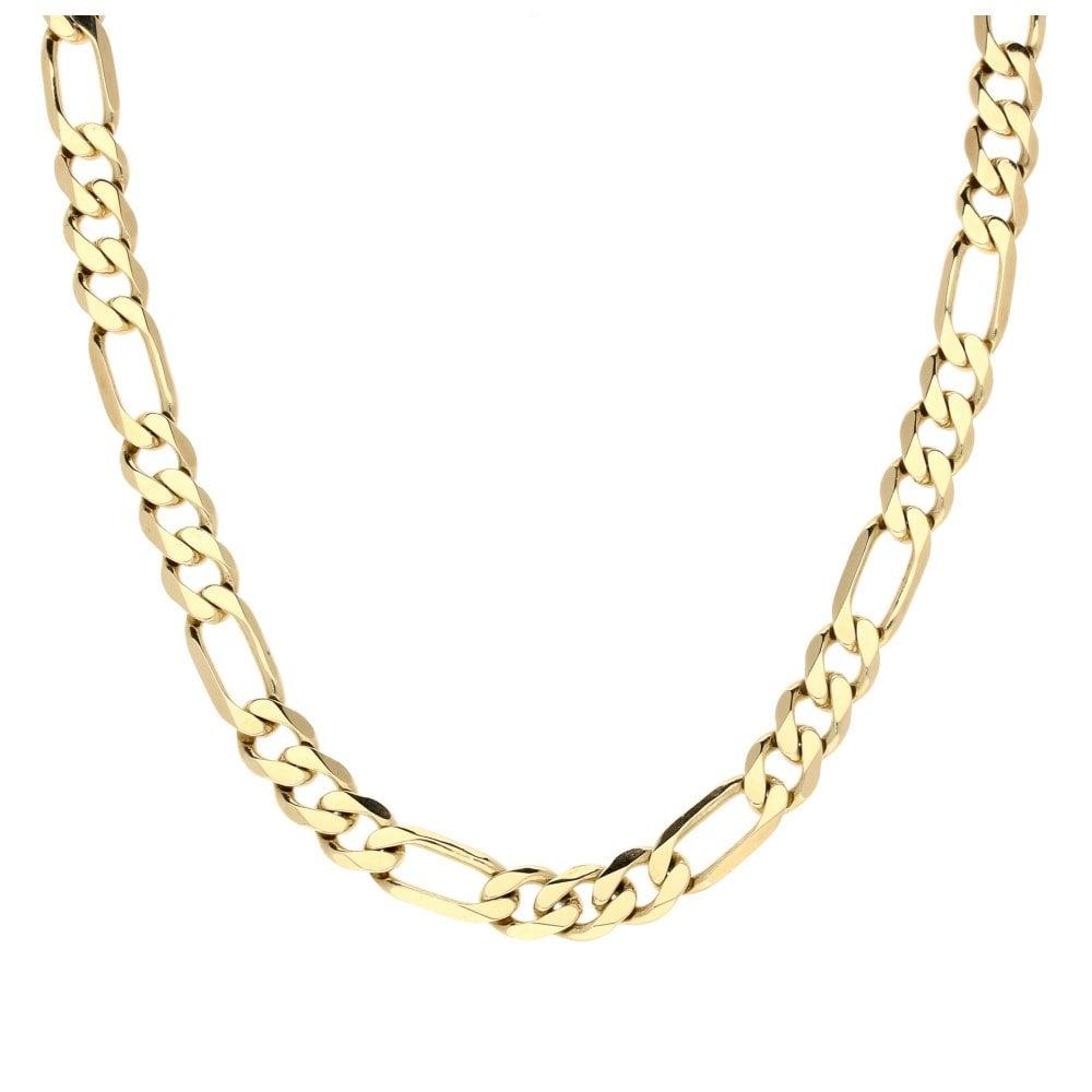 d3efc46d671c3 Miltons Diamonds 9ct Yellow Gold 24 Inch Mens Figaro Chain - 29.80g