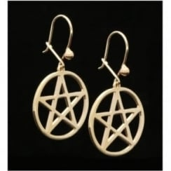 9ct Yellow Gold 5 Pointed Star Earrings