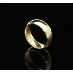 9ct Yellow Gold 6mm Court Wedding Ring