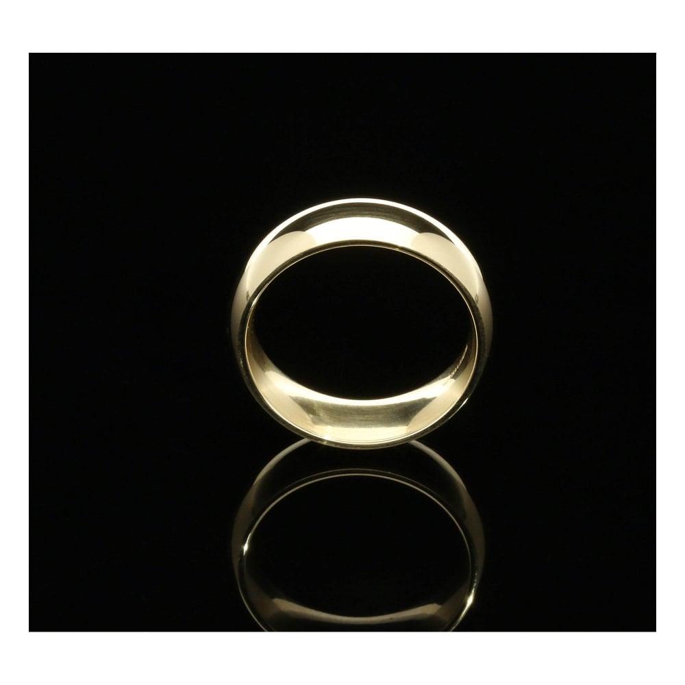 9ct Yellow Gold Court Wedding Ring Large Sizes