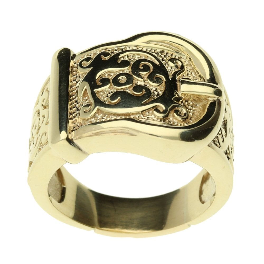 31e0b5c70731b 9ct Yellow Gold Buckle Ring - 16.1g