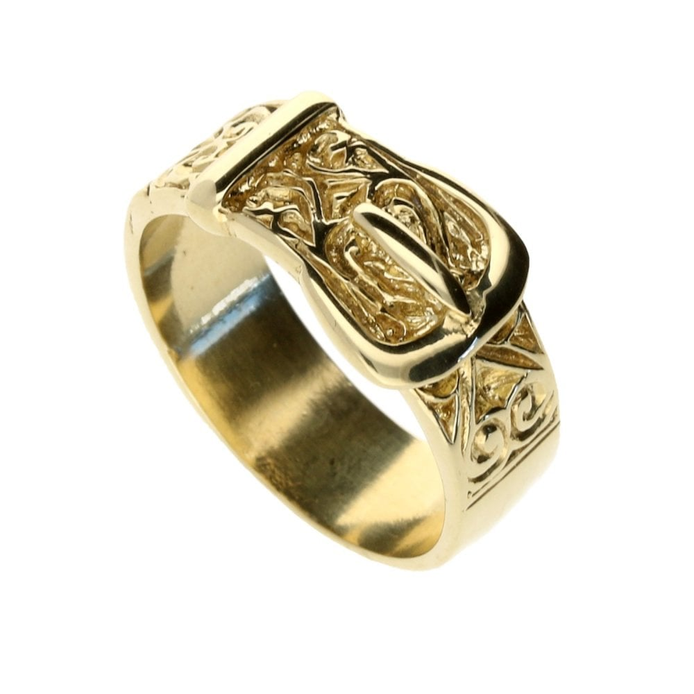 ddfacb6edb741 9ct Yellow Gold Buckle Ring - 7.7g