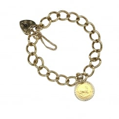 9ct Yellow Gold Charm Bracelet - 22.10 grams