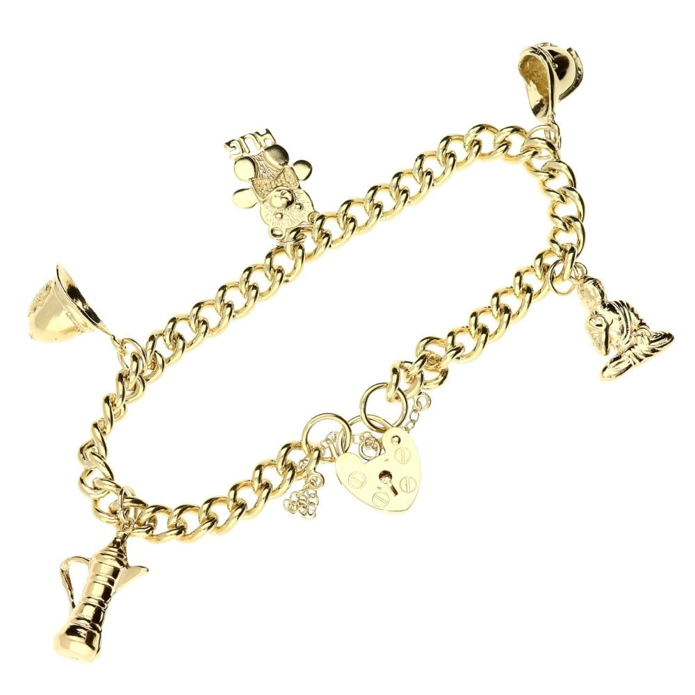 227ff3619f2 Second Hand 9ct Yellow-Gold Charm Bracelet - 22.3g | Miltons Diamonds
