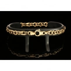 9ct Yellow Gold Fancy Bracelet - 17.0g