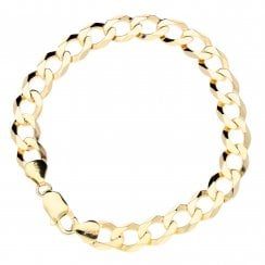 9ct Yellow Gold Gents Curb Bracelet 14.90g