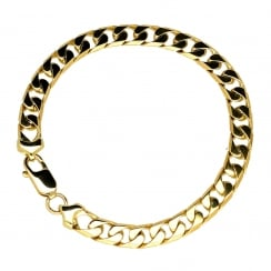 9ct Yellow Gold Gents Curb Bracelet - 21.50g