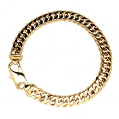 9ct Yellow Gold Gents Curb Bracelet - 29.70g