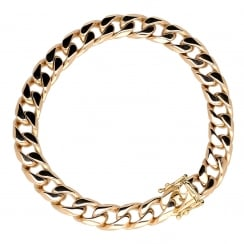 9ct Yellow Gold Gents Curb Bracelet - 50.0g