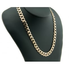 9ct Yellow Gold Heavy Curb Chain 60.6g