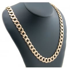9ct Yellow Gold Heavy Curb Chain 90.5g