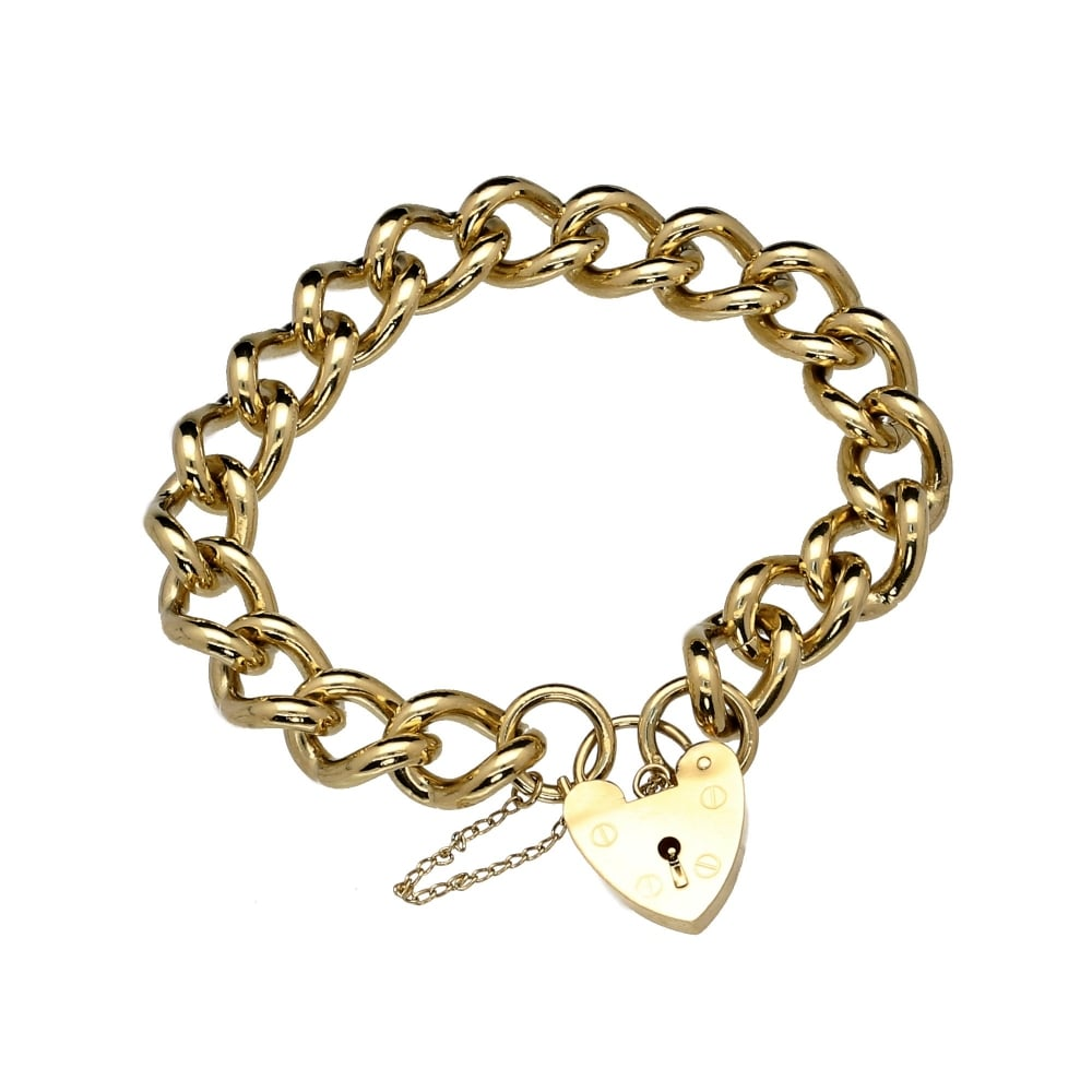 9ct Yellow Gold Heavy Ladies Charm Bracelet 77.20 grams 2d3bf2c8b399