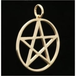 9ct Yellow Gold Large 5 Pointed Star Pendant