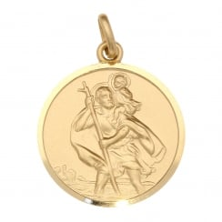 9ct Yellow Gold Large-Sized St Christopher Pendant - 8.70g