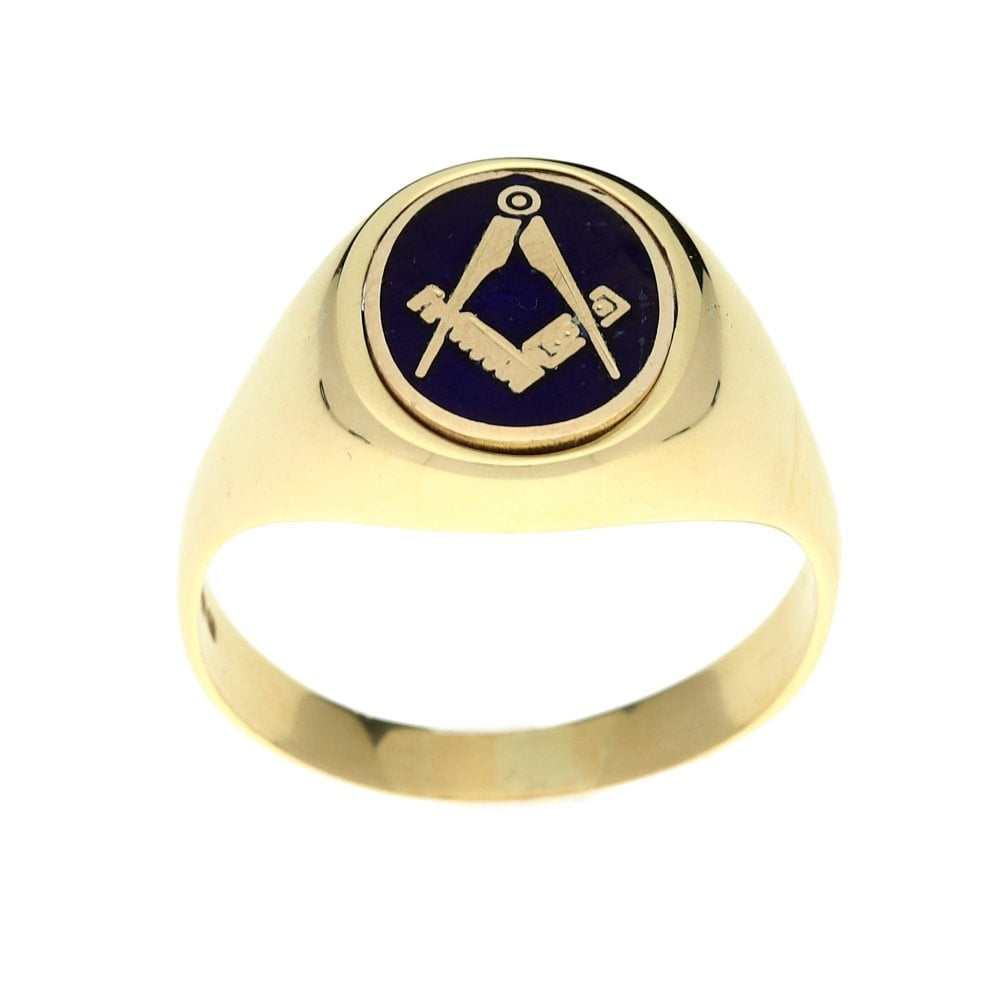 Miltons Diamonds 9ct Yellow Gold Masonic Reversible Ring - 7 2g