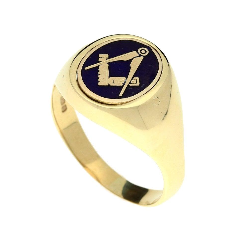 9ct Yellow Gold Masonic Reversible Ring - 7 2g