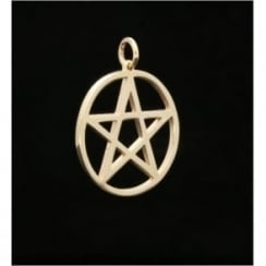 9ct Yellow Gold Medium 5 Pointed Star Pendant