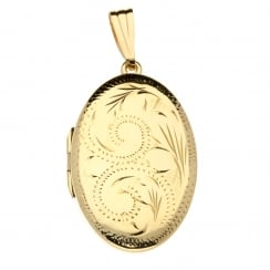 9ct Yellow Gold Medium-Sized Oval Locket