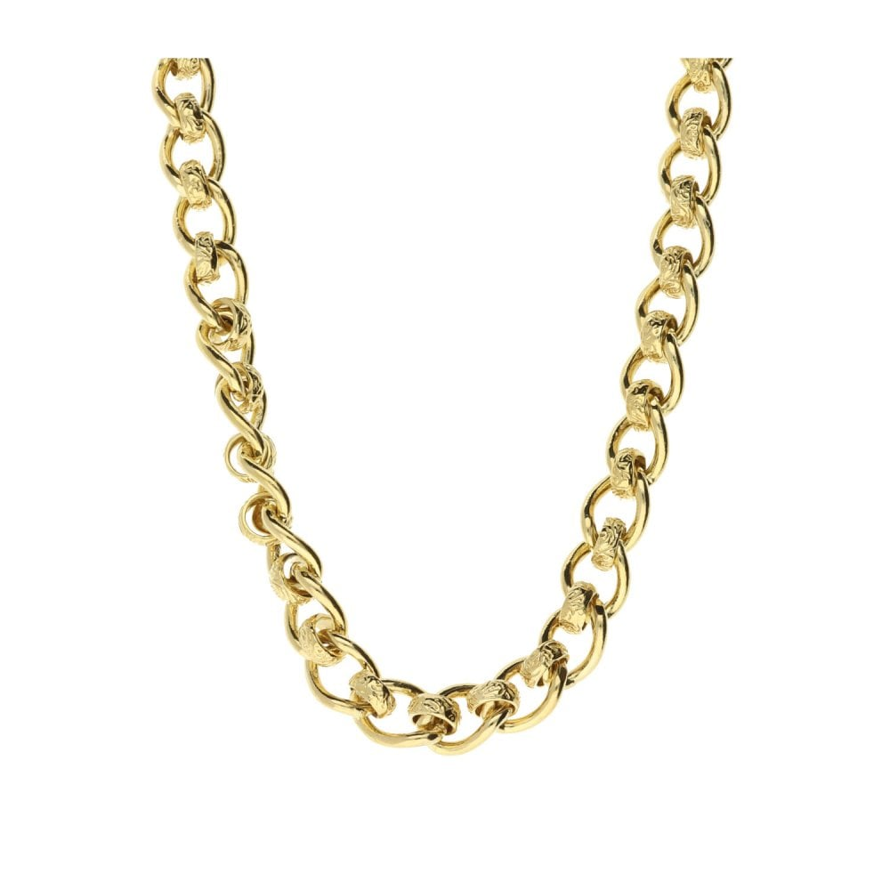 c55ea415afba4 9ct Yellow Gold Rollerball 24-Inch Chain - 60.2g