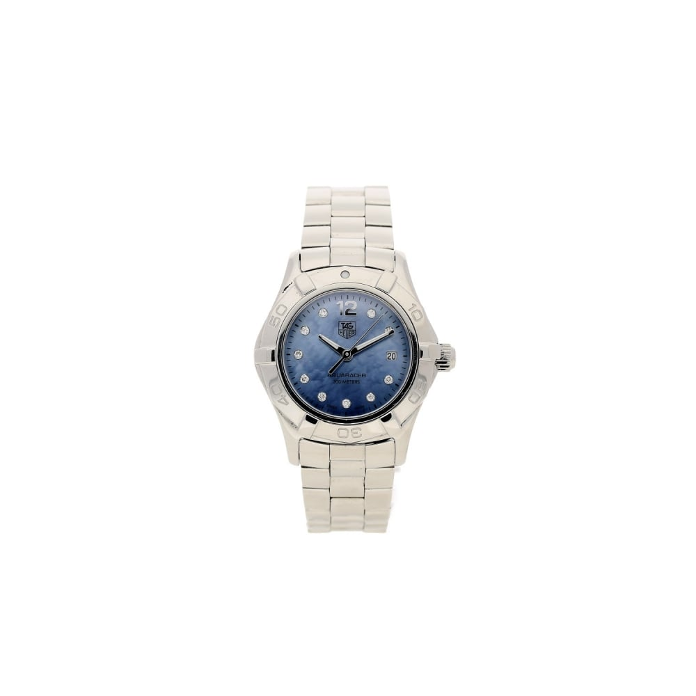 339dfe32a4a Tag Heuer Aquaracer WAF1419 - Ladies - Pre Owned - Blue Dial