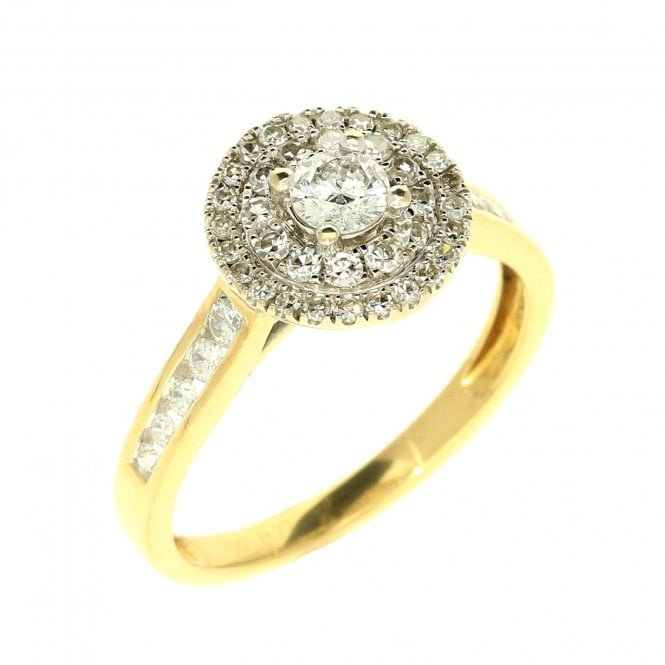 Beautiful 18ct Pre Loved Yellow Gold Halo Style Engagement