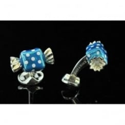 Blue and White Polka Dot Sweet Deakin and Francis Cufflinks