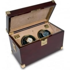 Captains Duo Mahogany Automatic Watch Winder