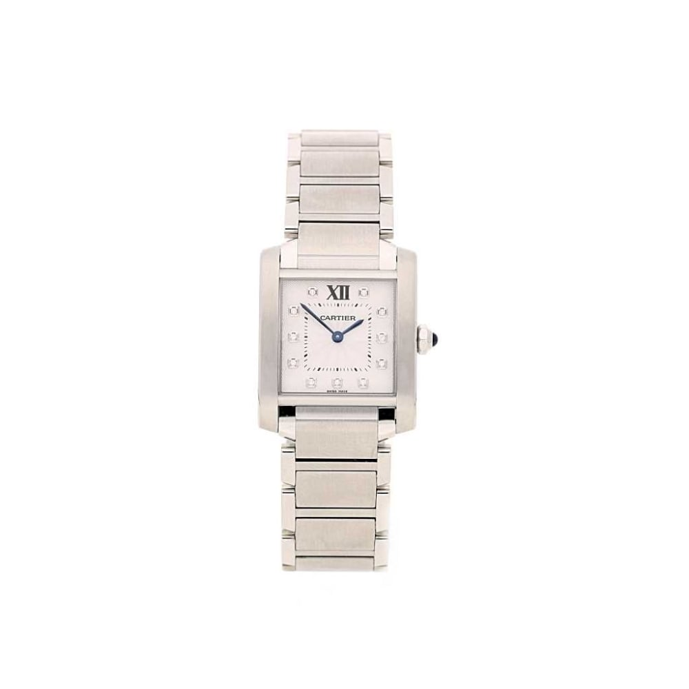 adfc64621caf1 Unworn Cartier Tank Francaise - Mid Size - Diamond Dial - PreOwned