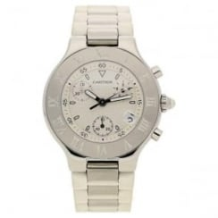 Cartier Chronoscaph 21 Pre Owned Chronograph - White