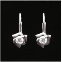 Cartier Platinum 0.75ct Diamond Earrings