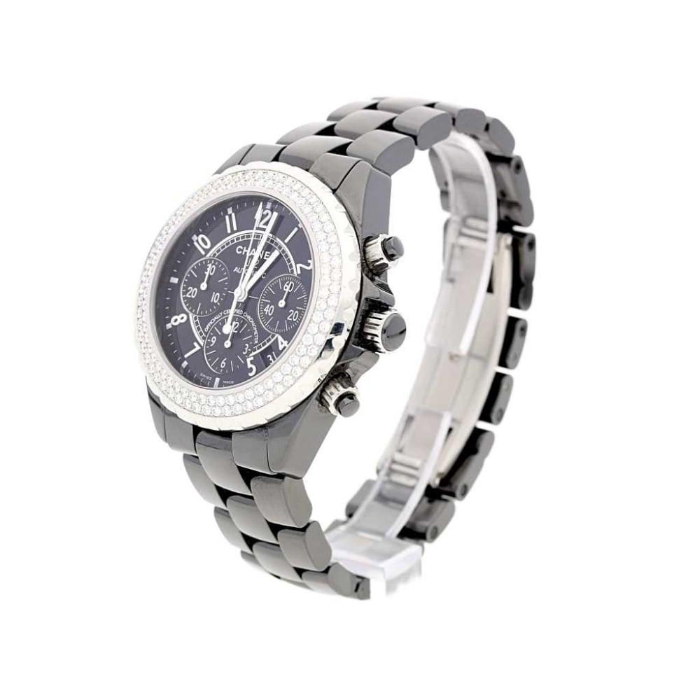 d4f14ee042af Chanel J12 H1009 Chronograph Diamond Bezel